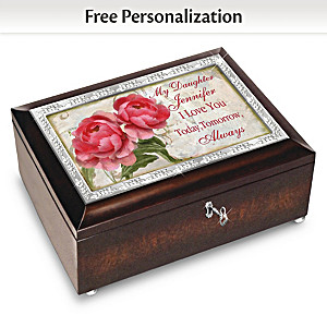 Daughter, Love You Always Customized Music Box And Poem Card