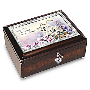 "Kayomi Harai ""Cats Leave Paw Prints On Our Hearts"" Music Box"