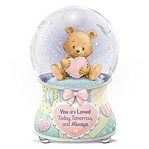 """Precious Baby, You Are Loved"" Musical Glitter Globe"