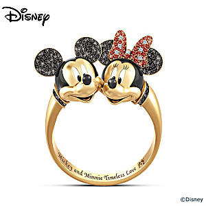 disney mickey mouse and minnie mouse timeless love ring - Mickey Mouse Wedding Ring