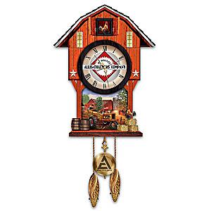 Allis-Chalmers Farm Wall Clock With Dave Barnhouse Art
