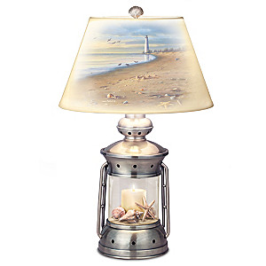 "James Hautman ""Coastal Treasures"" Lantern Table Lamp"