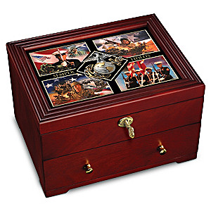 USMC Wooden Keepsake Box With James Griffin Artwork