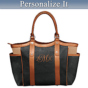 """Personally Yours"" Tote Bag Embroidered With Your Monogram"