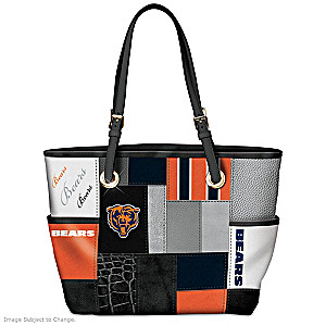 Bears For The Love Of The Game Tote Bag With Team Logos