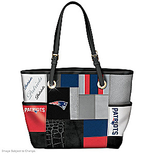 Patriots For The Love Of Tote Bag With Team Logos