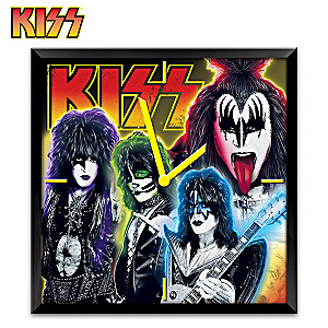 KISS Time To Rock Musical Wall Clock With Lights And Motion