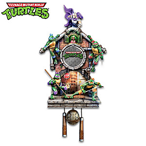 Teenage Mutant Ninja Turtles Lighted Clock Plays Theme Song