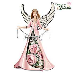 Hope Blossoms Breast Cancer Support Angel Floral Centerpiece