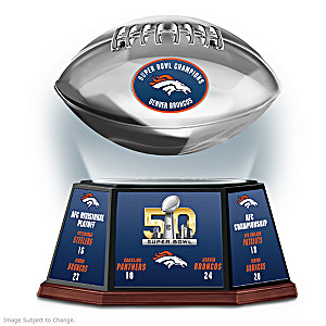 Denver Broncos Super Bowl 50 Levitating Football Sculpture