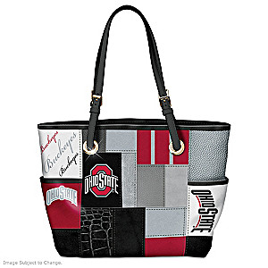 Ohio State Buckeyes Tote With Team Logos