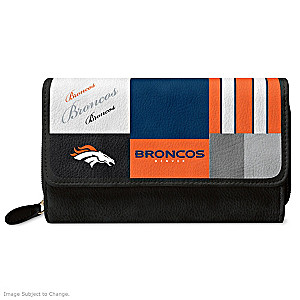 Broncos For The Love Of The Game Wallet With Team Logos