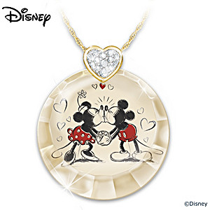 "Disney ""Timeless Love"" Crystal Pendant Necklace"