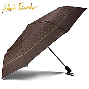 Alfred Durante Signature Print Fashion Umbrella With Cover