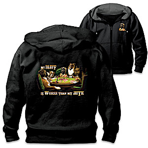 """Place Your Bets"" Dogs Playing Poker Artistic Men's Hoodie"