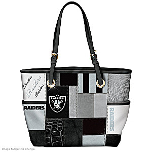 Raiders For The Love Of The Game Tote Bag With Team Logos