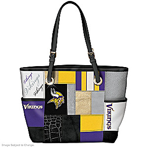 Vikings For The Love Of The Game Tote Bag With Team Logos