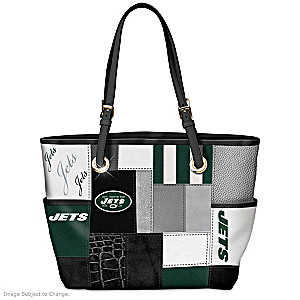 Jets For The Love Of The Game Tote Bag With Team Logos
