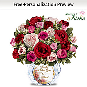 """Today, Tomorrow, Always"" Personalized Handmade Rose Bouquet"
