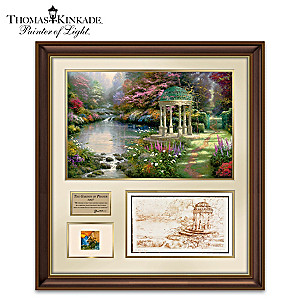 Garden Of Prayer Tribute With Thomas Kinkade's Actual Paint