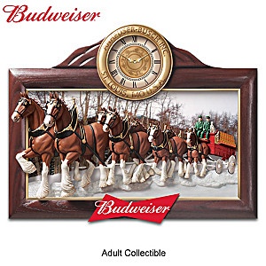 """Timeless Tradition"" Budweiser Clydesdales Wall Clock"