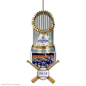 Cubs 2016 World Series Champions Christmas Ornament