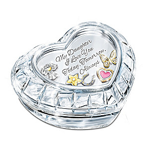Music Box With 5 Floating Wish Charms For Your Daughter