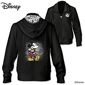 """Hot Off The Press"" Disney Mickey Mouse Women's Hoodie"