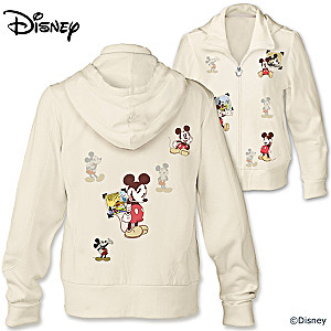 "Disney ""Retro Mickey Mouse"" Women's Hoodie With Vintage Art"