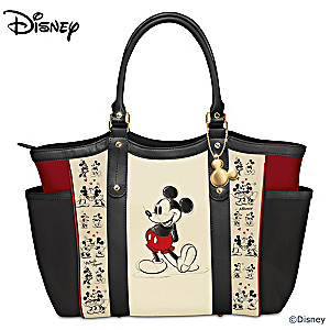 "Mickey Mouse And Minnie Mouse ""Love Story"" Shoulder Tote Bag"