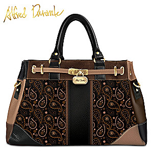 "Alfred Durante ""Tribeca"" Handbag With Paisley Designs"