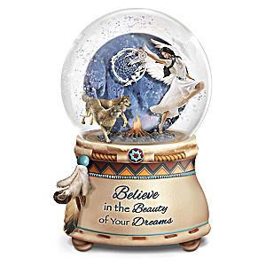 Robin Koni Native American-Inspired Lighted Glitter Globe