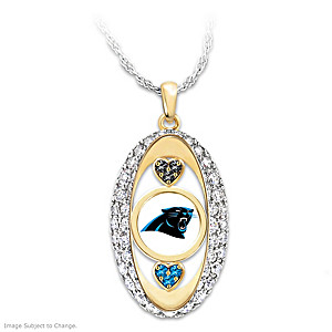 """For The Love Of The Game"" Carolina Panthers Pendant"