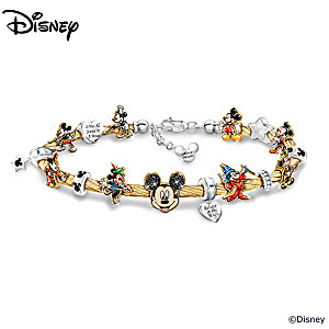 "Disney ""Mickey Mouse's Greatest Moments"" Charm Bracelet"