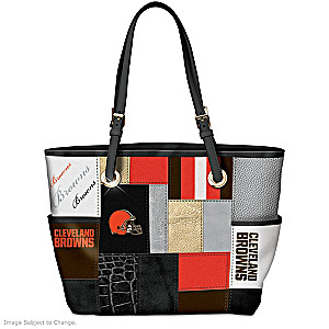 Browns For The Love Of The Game Tote Bag With Team Logos