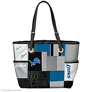 Lions For The Love Of The Game Tote Bag With Team Logos