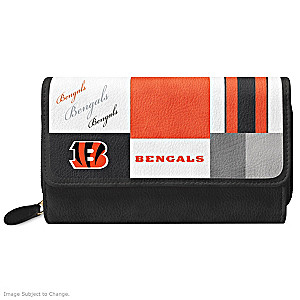 Bengals For The Love Of The Game Wallet With Team Logos