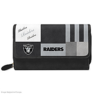 Raiders For The Love Of The Game Wallet With Team Logos
