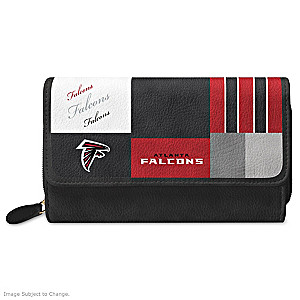 Falcons For The Love Of The Game Wallet With Team Logos