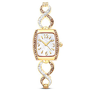 """Sweet Decadence"" Mother Of Pearl Women's Watch"