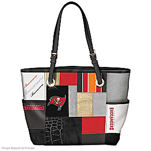 Buccaneers For The Love Of The Game Tote Bag With Team Logos
