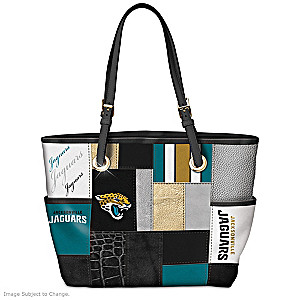 Jaguars For The Love Of The Game Tote Bag With Team Logos