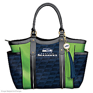 """Touchdown Seahawks!"" Designer Style Shoulder Tote"
