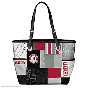 Alabama Crimson Tide Tote With Team Logos