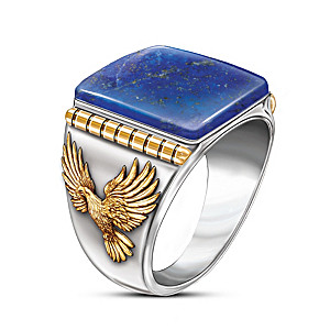 """Untamed Freedom"" Blue Lapis Men's Ring"