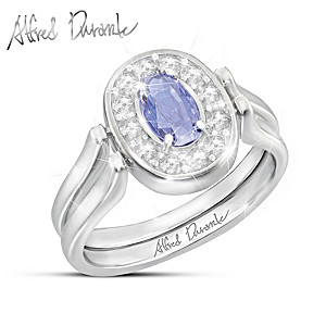 Alfred Durante Reversible Tanzanite And White Topaz Ring