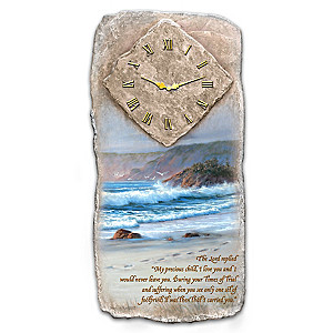 """Footprints In The Sand"" Wall Clock"