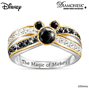 """Sparkling Magic"" Mickey Mouse Diamonesk Ring"