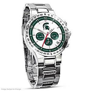 Michigan State Spartans Commemorative Chronograph Watch