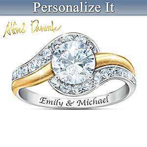 Alfred Durante Forever Begins Today Personalized Topaz Ring